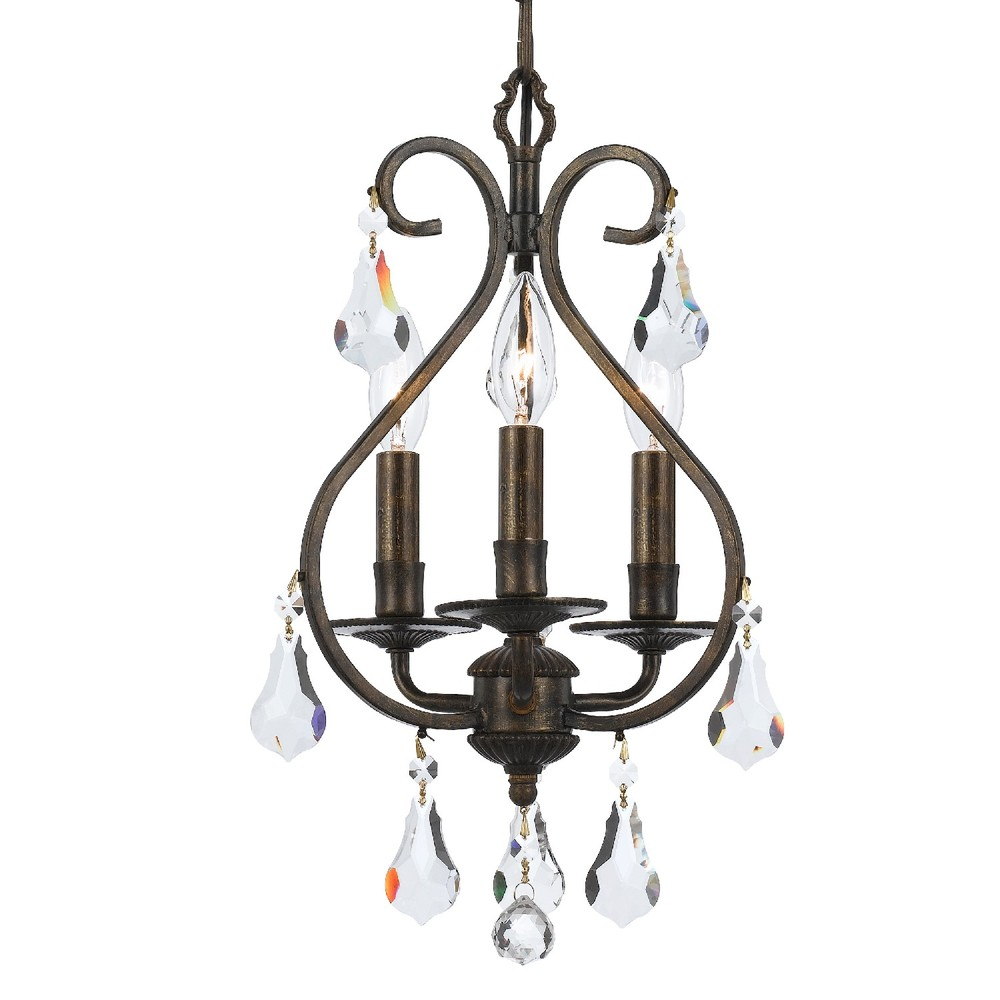 3 light english bronze crystal mini chandelier 2ggfz shelby 3 light english bronze crystal mini chandelier arubaitofo Images
