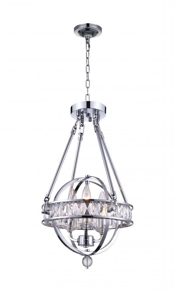 3 light mini chandelier with chrome finish 30695wx shelby design 3 light mini chandelier with chrome finish aloadofball Choice Image